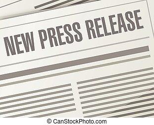 new press release illustration