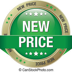 new price green gold button