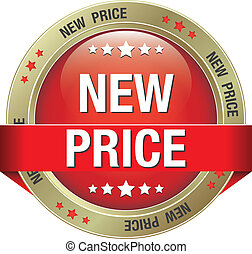 new price red gold button