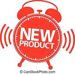 New product alarm clock icon, vector illustration