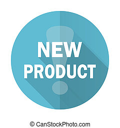 new product blue flat icon