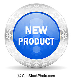 new product blue icon, christmas button