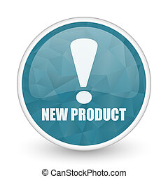 New product brillant crystal design round blue web icon.