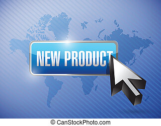 new product button illustration design