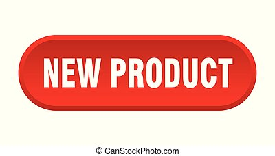 new product button. new product rounded red sign. new product