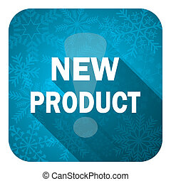new product flat icon, christmas button