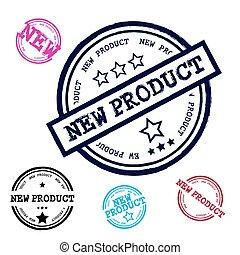 New Product Grunge Stamp Set Isolated on White Background