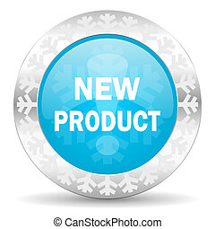 new product icon, christmas button