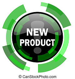 new product icon, green modern design isolated button, web and mobile app design illustration