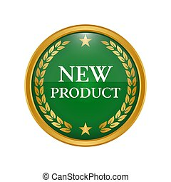 New product label on white background.