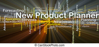 New product planner background concept glowing - Background...