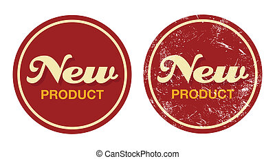 New product red retro badge - grung - New product in shop...