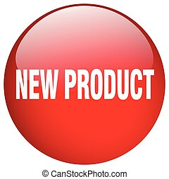 new product red round gel isolated push button