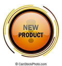 new product round design orange glossy web icon