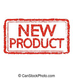 New product rubber stamp text illustration