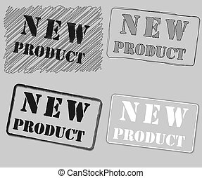 New product rubber stamp vector illustration.