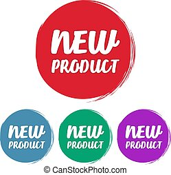 New product. Set of grunge style on a white background