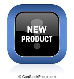 new product square glossy icon