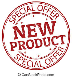 New product stamp - Red grunge rubber stamp with the text ...