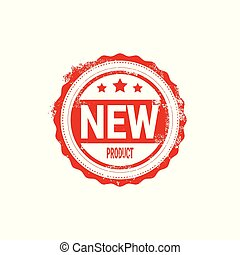 New Product Stamp Red Ink Badge Isolated Sticker Icon