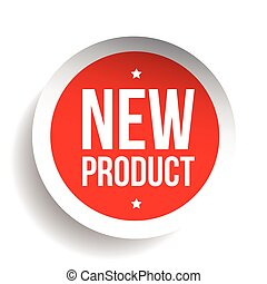 New Product sticker red