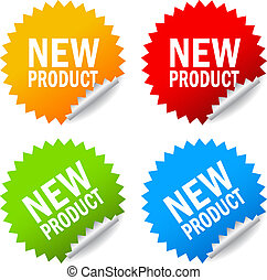 New product stickers set