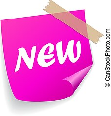 New product vector sticker