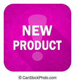new product violet flat icon, christmas button