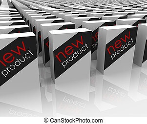 New Products Boxes Packages Store Shopping Best Choice