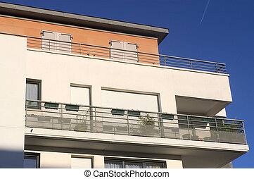 New real estate in France in the Paris region. Houses in an...