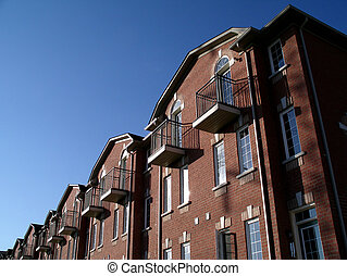 New Real Estate - New homes in Toronto, showing a townhouse...