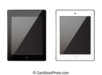 New realistic tablet black, white