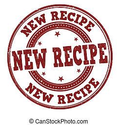 New recipe stamp - New recipe grunge rubber stamp on white,...