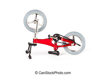 New red bicycle isolated