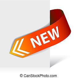 New red corner ribbon - arrow
