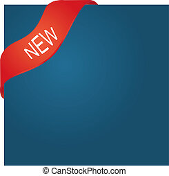 New red corner ribbon