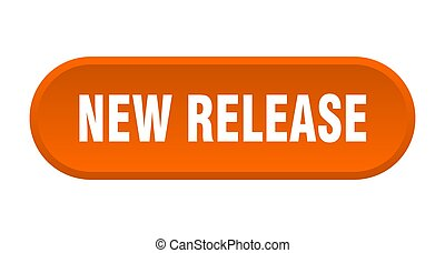 new release button. rounded sign on white background - new ...