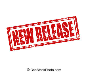 New Release-stamp - Grunge rubber stamp with text New...
