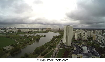 New residential areas of Moscow. Time lapse
