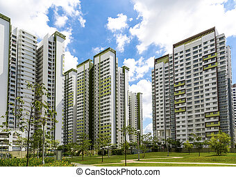New Residential Estate - A horizontal shot of a park leading...