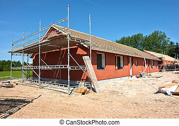 New residential home house construction
