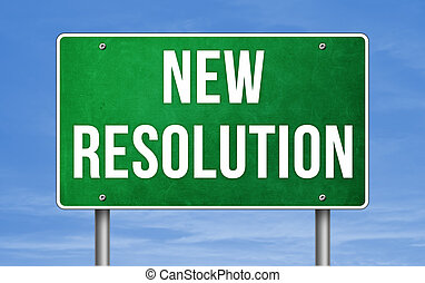 New Resolution - road sign concept
