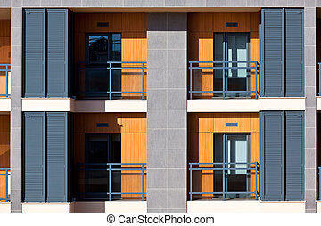 New Resort Apartment House Close Up