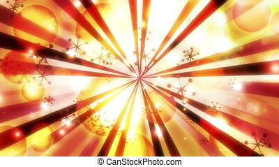 New retro abstract CG animation in red yellow and white looping animated background
