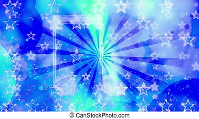 New retro music and stars shapes and particles looping CG background