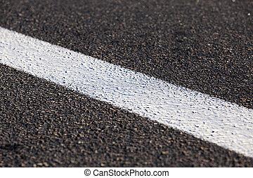 new road, close up