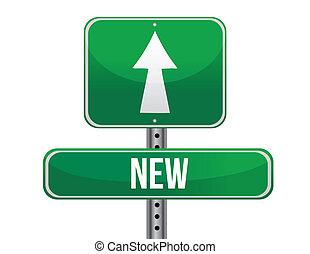 new road sign illustration design