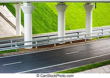 road under bridge
