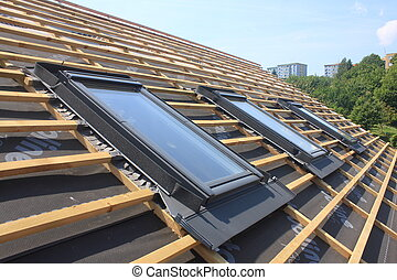 New roof and skylights - New roof coverings but without the...