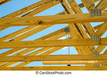 new roof construction - new structure roof construction on...